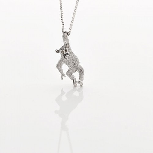 Silver Monkey Necklace