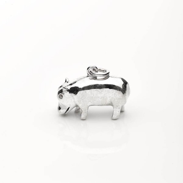 Silver Hippo Necklace