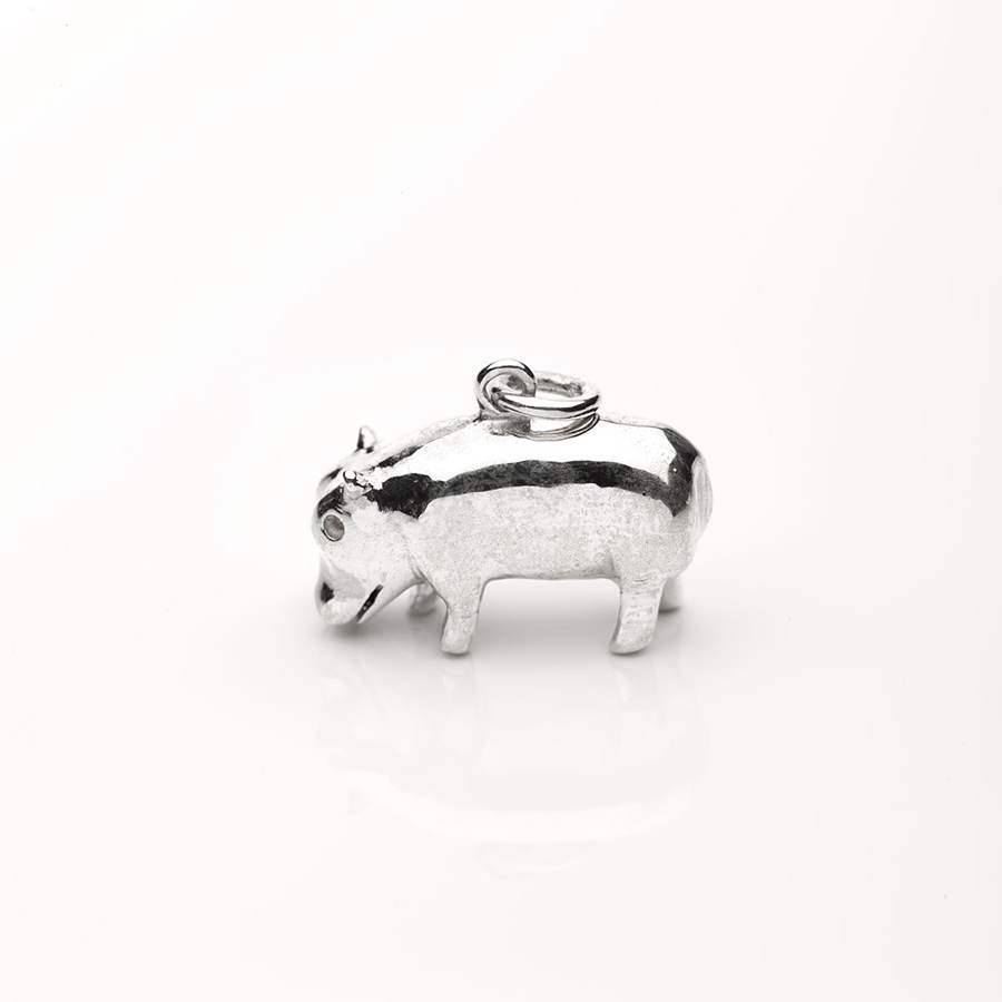 Silver Hippo Necklace