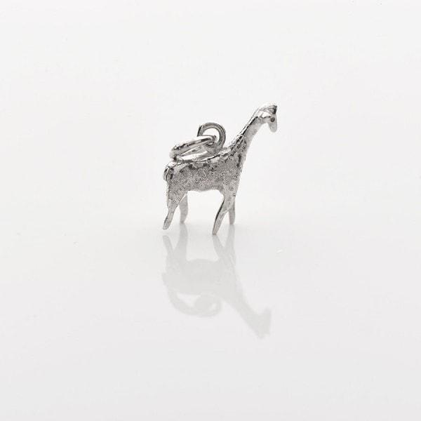 sterling silver mini giraffe necklace