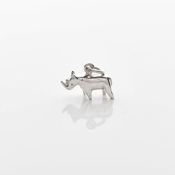 Silver Mini Rhino Necklace