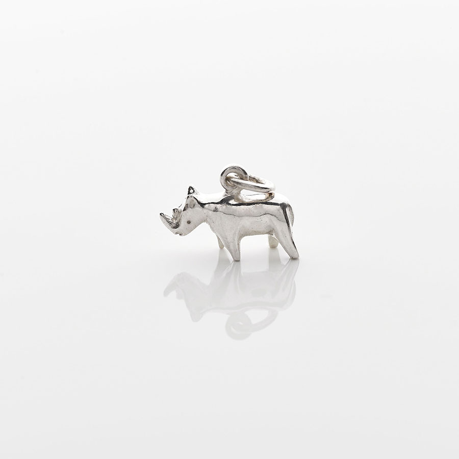 Silver Mini Rhino Necklace