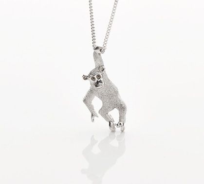 chimp charity necklace