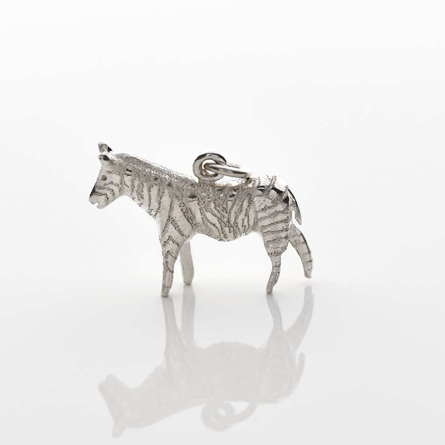 silver zebra necklace