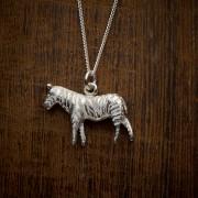 silver zebra necklace