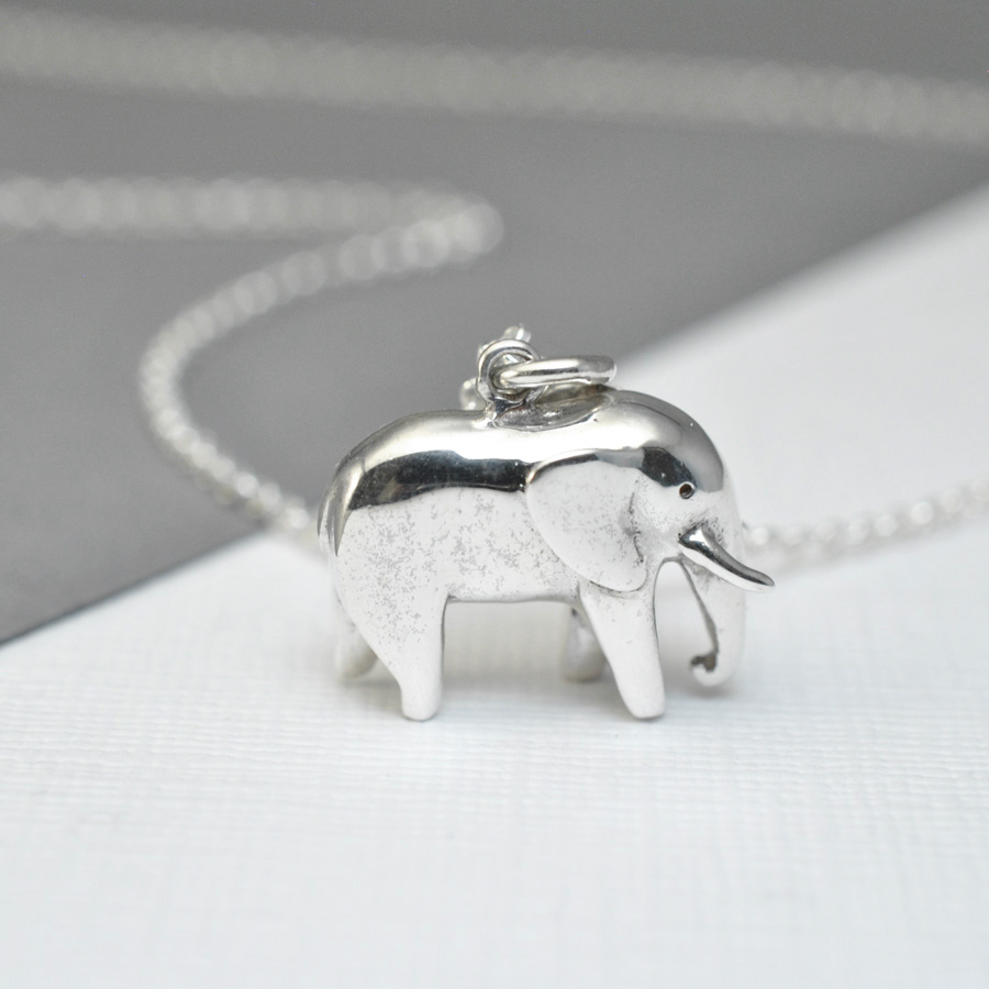 Silver elephant necklace asimi charity necklace for Jewelry that supports a charity