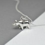 Silver Rhino Necklace